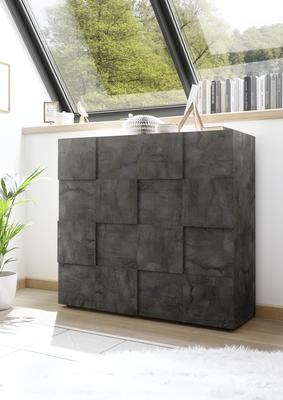 Treviso Two Door High Sideboard - Anthracite Finish