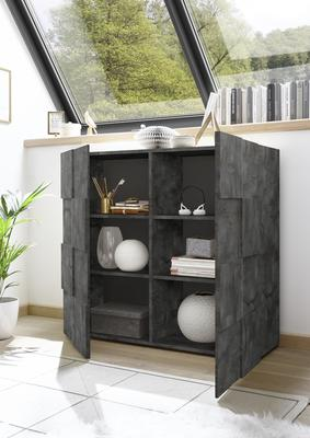 Treviso Two Door High Sideboard - Anthracite Finish image 2