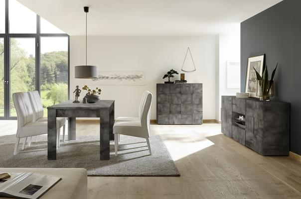 Treviso Two Door High Sideboard - Anthracite Finish image 4