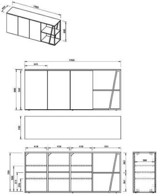 Albi 3 door sideboard image 12