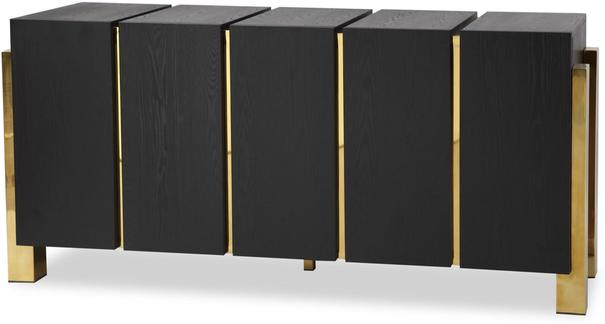 Enigma Black Ash Sideboard with Brass Detail image 6
