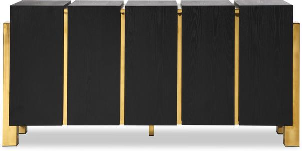 Enigma Black Ash Sideboard with Brass Detail image 7
