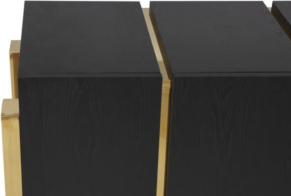 Enigma Black Ash Sideboard with Brass Detail image 10