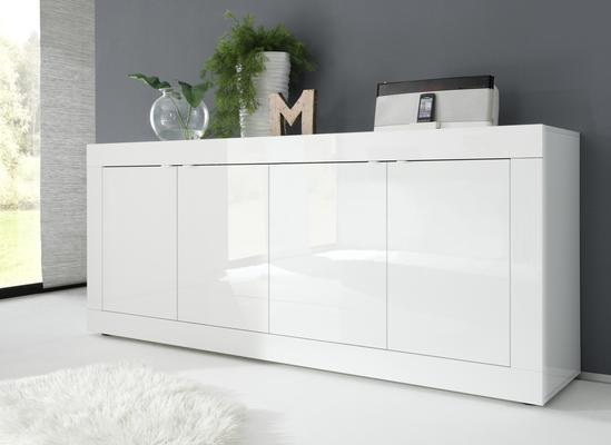 Urbino Four Door Sideboard - Gloss White Finish