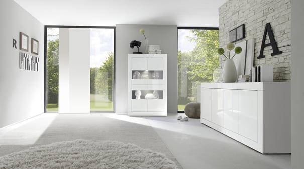 Urbino Four Door Sideboard - Gloss White Finish image 2