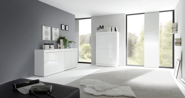 Urbino Four Door Sideboard - Gloss White Finish image 3