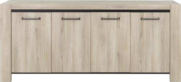 Albin Four Door Sideboard - Light Oak Finish image 2