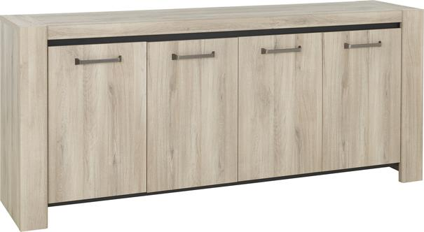 Albin Four Door Sideboard - Light Oak Finish