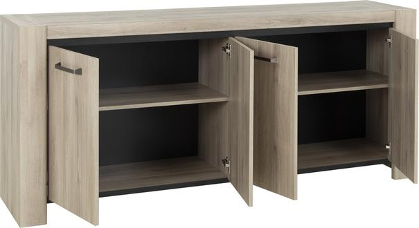 Albin Four Door Sideboard - Light Oak Finish image 3