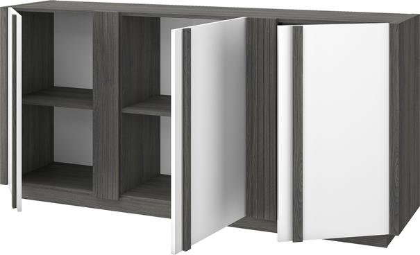 Aston Three Door Sideboard - White and Light Oak or Black image 10