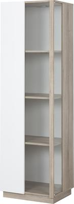 Aston One Door Display Unit - White and Light Oak or Black image 3