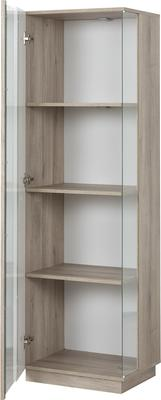 Aston One Door Display Unit - White and Light Oak or Black image 5