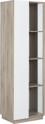 Aston One Door Display Unit - White and Light Oak or Black image 7