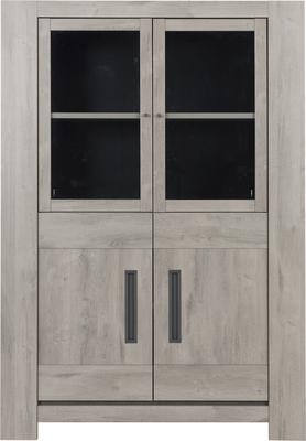 Boston Four Door Display Unit - Light Grey Oak Finish image 2
