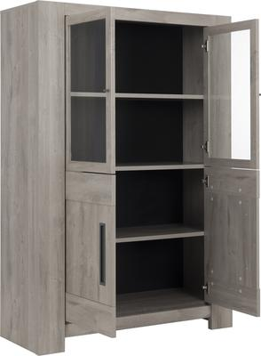 Boston Four Door Display Unit - Light Grey Oak Finish image 3