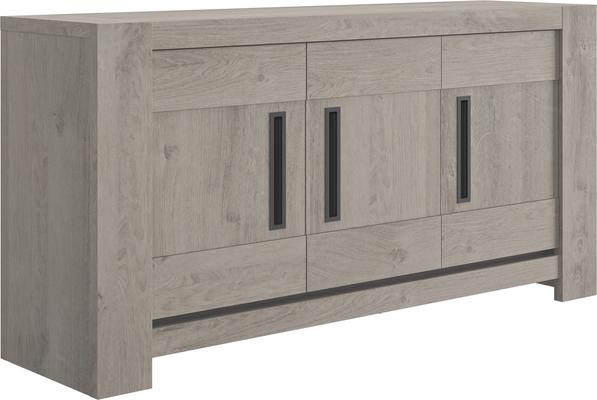 Boston Three Door Sideboard - Light Grey Oak Finish