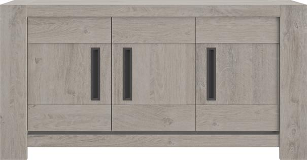 Boston Three Door Sideboard - Light Grey Oak Finish image 2