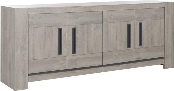Boston Four Door sideboard - Light Grey Oak Finish