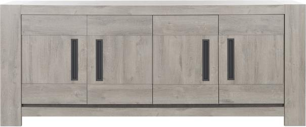 Boston Four Door sideboard - Light Grey Oak Finish image 2
