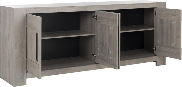 Boston Four Door sideboard - Light Grey Oak Finish image 3