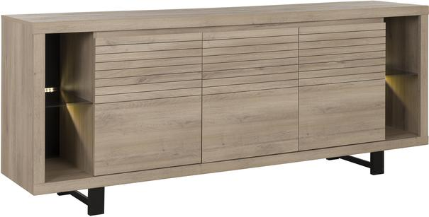 Clay Three Door Sideboard - Light Natural Oak Finish