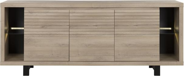 Clay Three Door Sideboard - Light Natural Oak Finish image 2