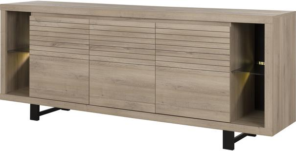 Clay Three Door Sideboard - Light Natural Oak Finish image 4