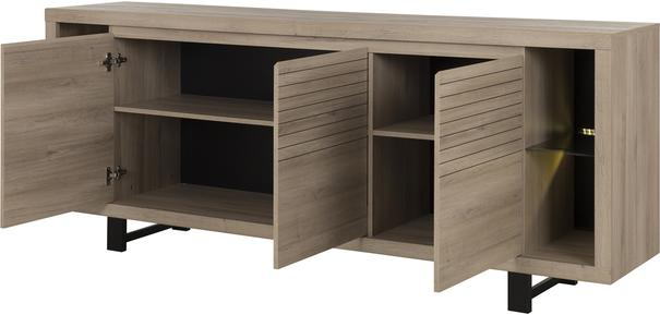 Clay Three Door Sideboard - Light Natural Oak Finish image 5