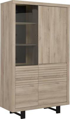 Clay Four Door Display Unit - Light Natural Oak Finish