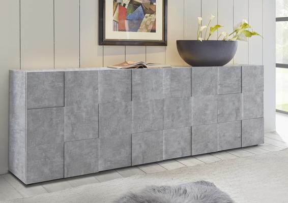 Treviso Four Door Sideboard - Grey Concrete Finish