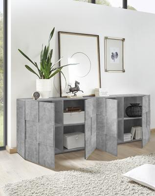 Treviso Four Door Sideboard - Grey Concrete Finish image 2