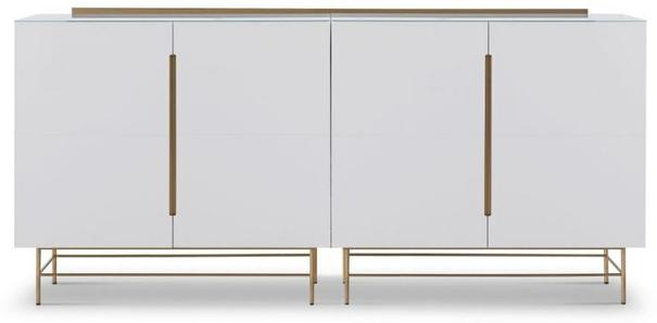 Alberto Four Door High Sideboard Matt White or Grey