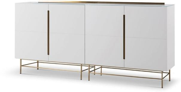 Alberto Four Door High Sideboard Matt White or Grey image 2