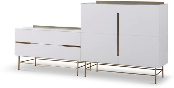 Alberto Door & Drawer Combination Sideboard Matt White or Grey image 2