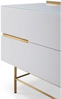 Alberto Door & Drawer Combination Sideboard Matt White or Grey image 5