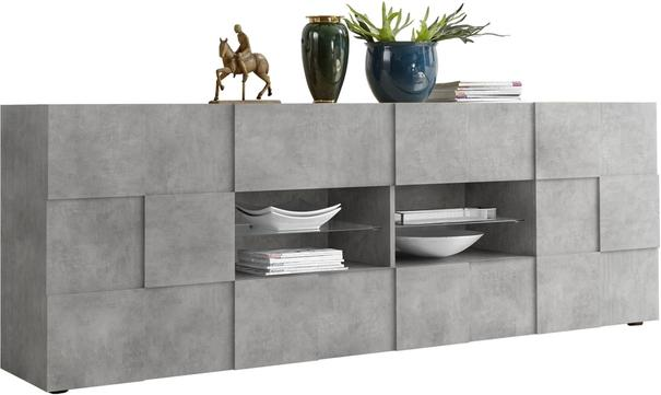 Treviso Two Door/Four Drawer Sideboard - Grey Concrete Finish