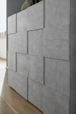 Treviso Two Door/Four Drawer Sideboard - Grey Concrete Finish image 4