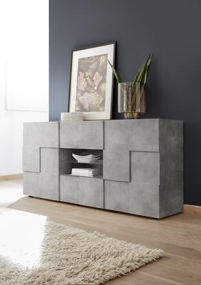 Treviso Two Door/Two Drawer Sideboard - Grey Concrete Finish image 2