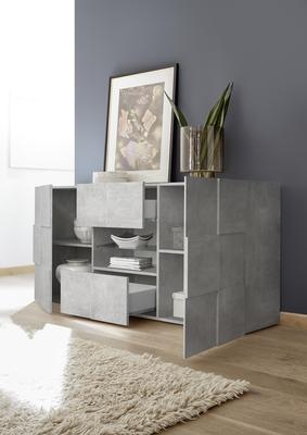 Treviso Two Door/Two Drawer Sideboard - Grey Concrete Finish image 3