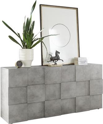 Treviso Three Door Sideboard - Concrete Grey Finish