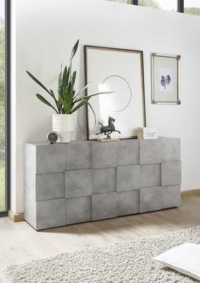 Treviso Three Door Sideboard - Concrete Grey Finish image 3