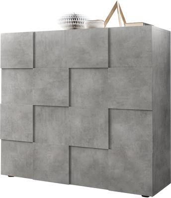 Treviso Two Door High Sideboard - Concrete Grey Finish