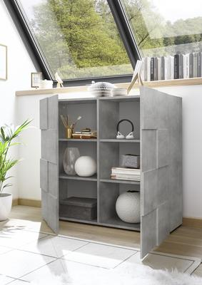 Treviso Two Door High Sideboard - Concrete Grey Finish image 2