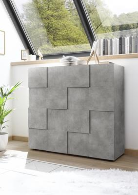 Treviso Two Door High Sideboard - Concrete Grey Finish image 3