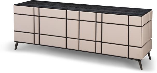 Tartan Mink Leather Sideboard