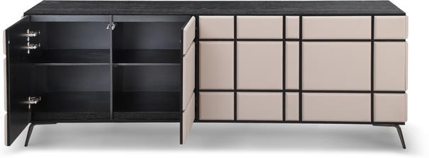 Tartan Mink Leather Sideboard image 3