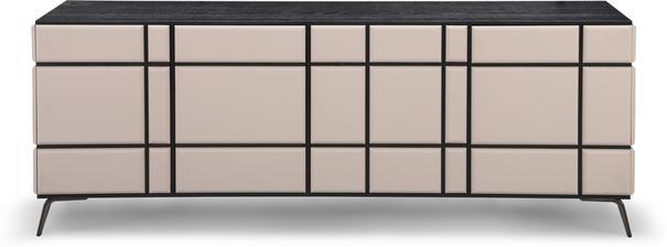 Tartan Mink Leather Sideboard image 4