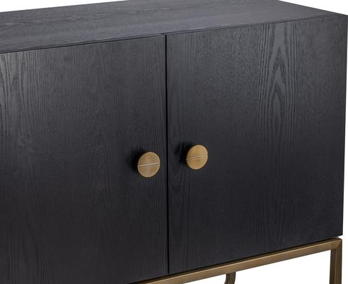 Rhapsody Four Door Sideboard Black Ash and Brass Frame image 5