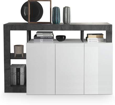 Florence Three Door  Sideboard - White Gloss and Anthracite Finish
