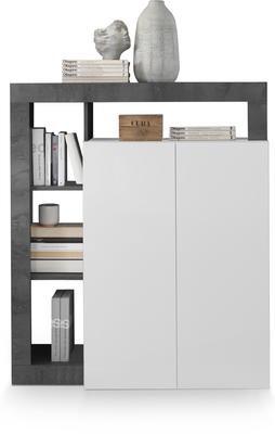 Florence High Sideboard Two Doors - White Gloss and Anthracite Finish